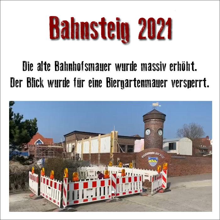 Bahnsteig 2021 mit neuer Mauer