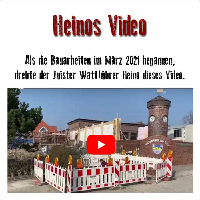 Juister Bahnhof: zum Video der Umbaumassnahmen im März 2021
