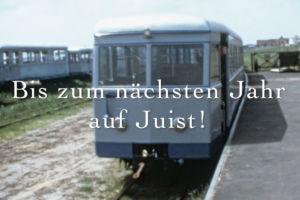 Zug am Bahnhof Juist (1973)